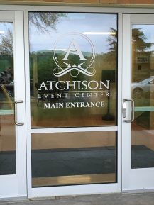 New main entrance decal- AEC