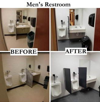 Men's Restroom Before & After
